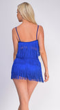 Jamilah Royal Blue Fringe Top And Short Set
