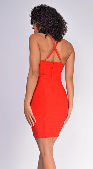 Emalee Red Bandage Dress