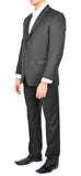 Black Classic Fit Suit Trousers 100% Wool - Emprada