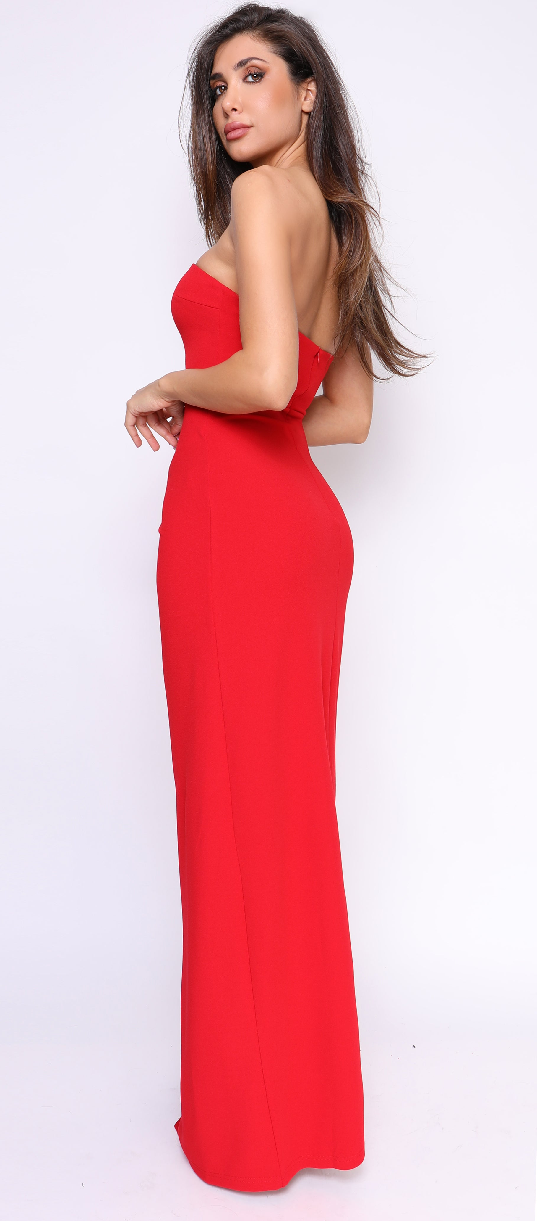 Satya Red Slit Gown