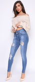 Fera High Waist Shaping Button Jeans