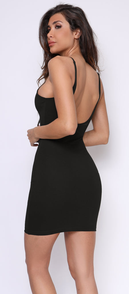 Junia Black Essential Tank Dress