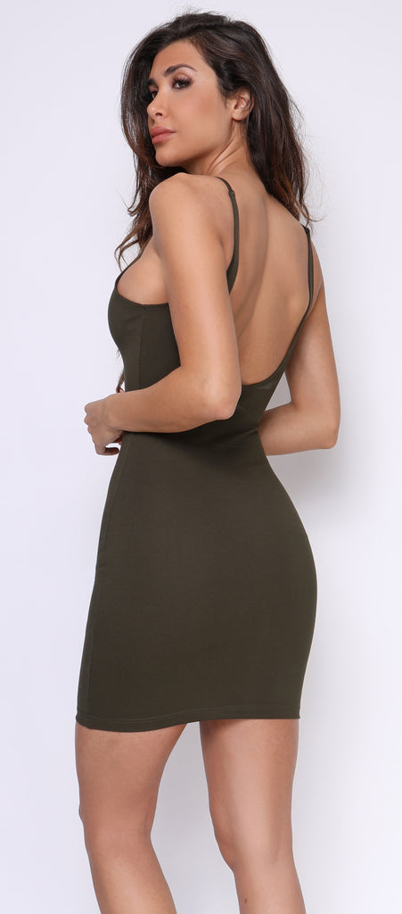 Junia Olive Green Essential Tank Dress