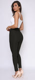 Kaari Black High Waist Tie Pant