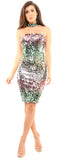 Nediva Multi Color Sequin Dress