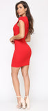 Sonia Red Cap Sleeve Dress