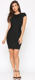 Sonia Black Cap Sleeve Dress