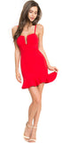 Silva Red Ruffle Hem Dress