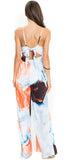 Orana Orange Multi V Neck Jumpsuit