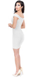 Adriah White Off Shoulder Dress - Emprada