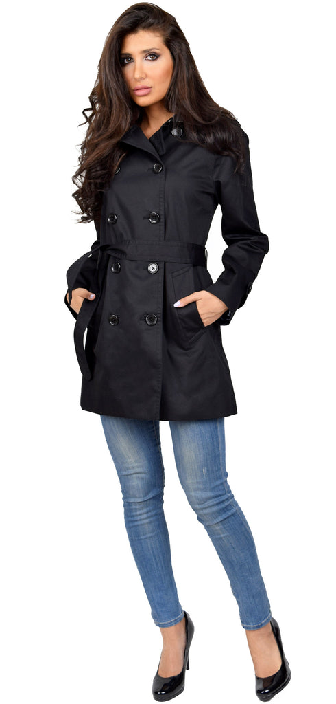 Black Long Trench Coat - Emprada