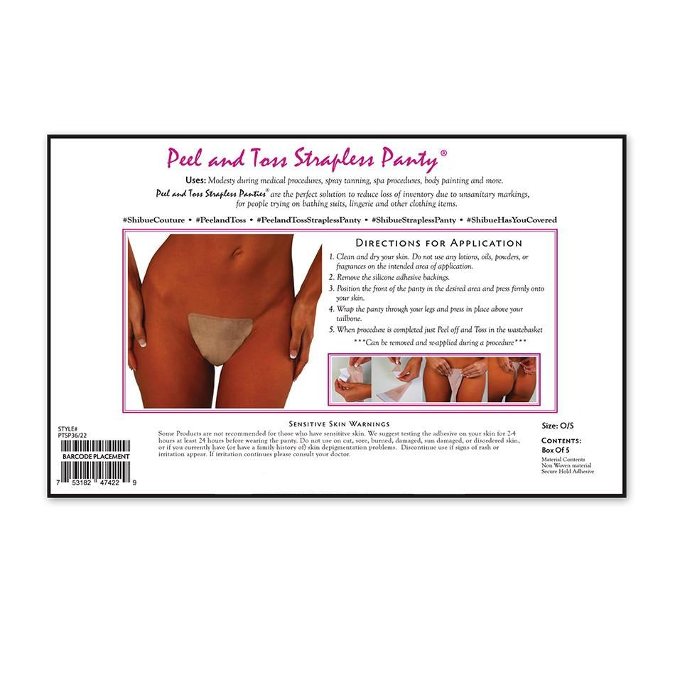 Shibue Peel and Toss Strapless Disposable Panty - Emprada