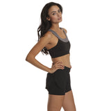 Black/Charcoal Knock Down Training Bra - Emprada