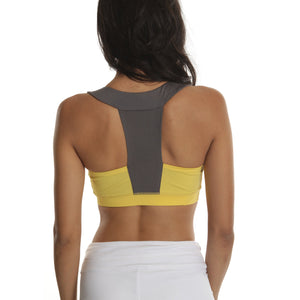 Citrine/Charcoal Knock Down Training Bra - Emprada