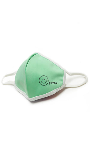 Smile Please Mint Green Reusable Face Mask