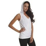 White Drop Needle Drape Top - Emprada