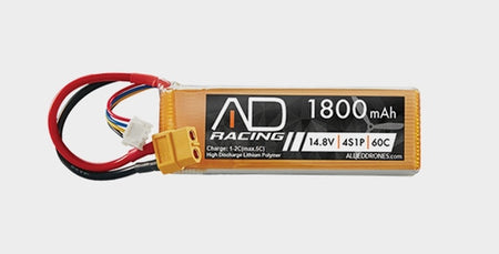 Allied Racing AR25 Lipo Battery 4 Cell 1800 mAh 60C, , , Copter Source, Copter Source