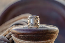 Load image into Gallery viewer, Size 9.5- Silver Scroll Ring- Ready for initials or brand!