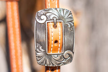 Load image into Gallery viewer, PH Casting- White Bronze Rounded Square Opposing Scroll Buckle- B2