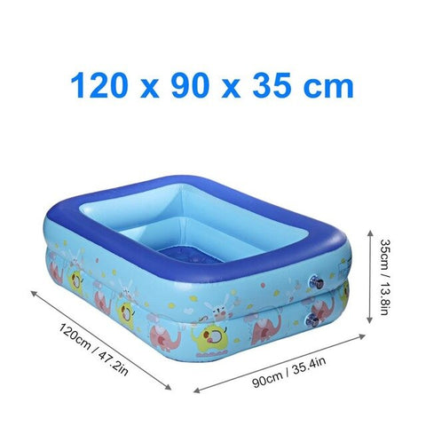 Piscine Gonflable Rectangulaire 120cm/130cm/150cm