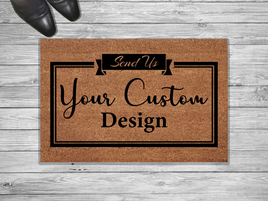 Initial Framed Design Personalized Address Doormat