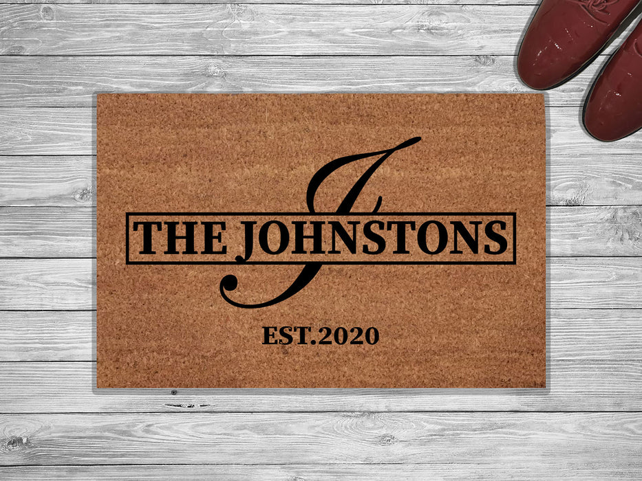 The Thompson personalized Family Name Doormat