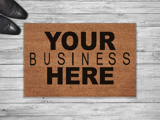 Your Business Here Personalized Doormat