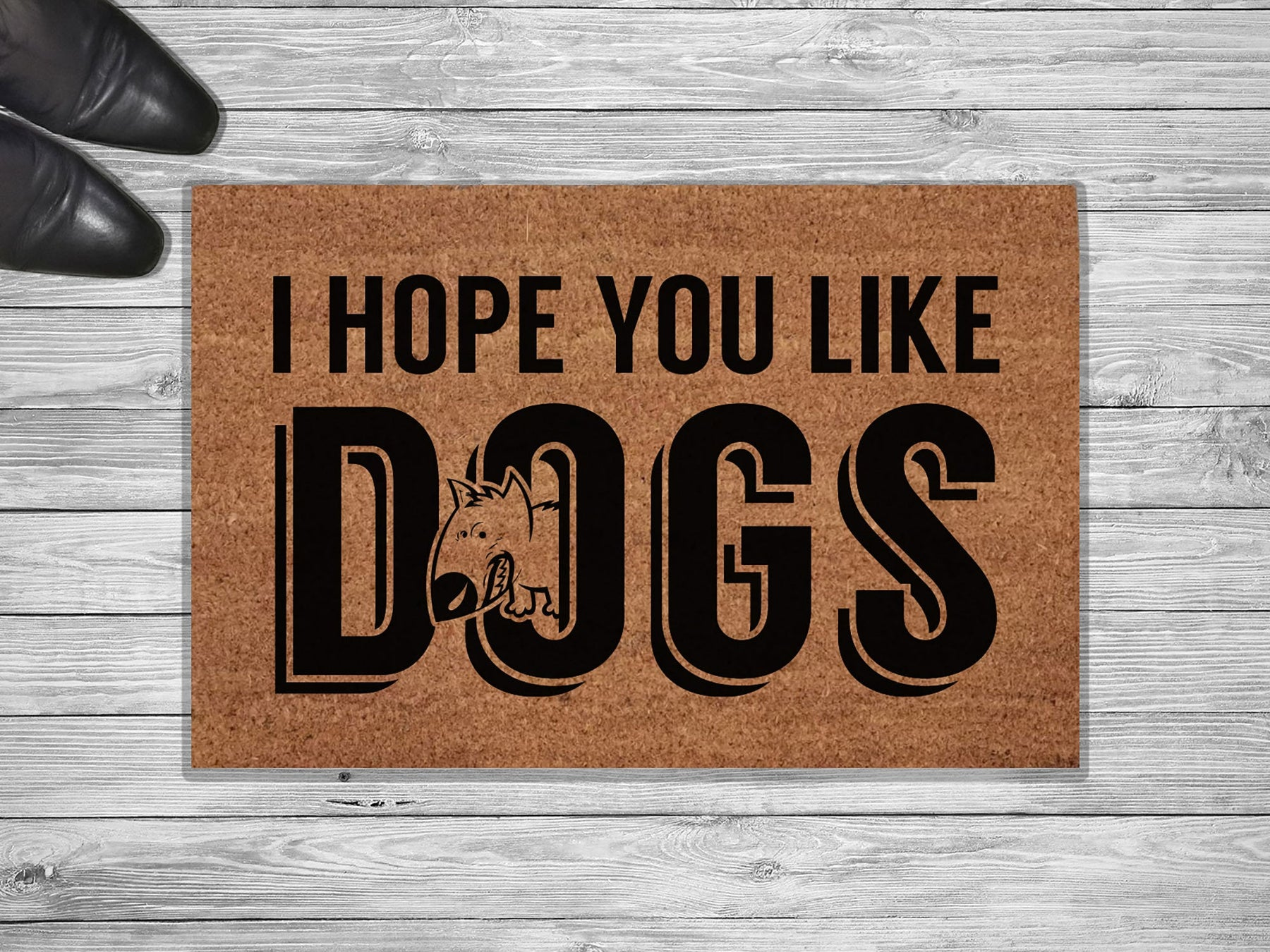 I Hope You Like Dogs Customized Doormat