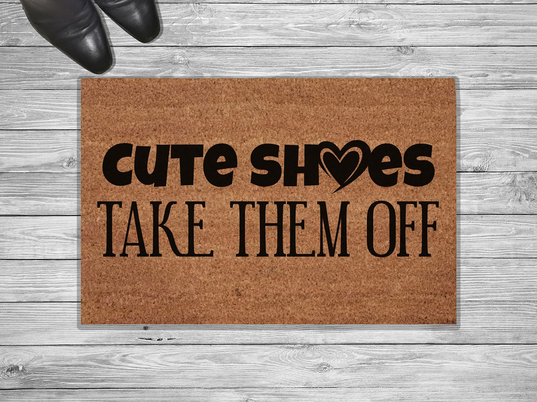 Cute Shoes Take Them Off Customized Doormat