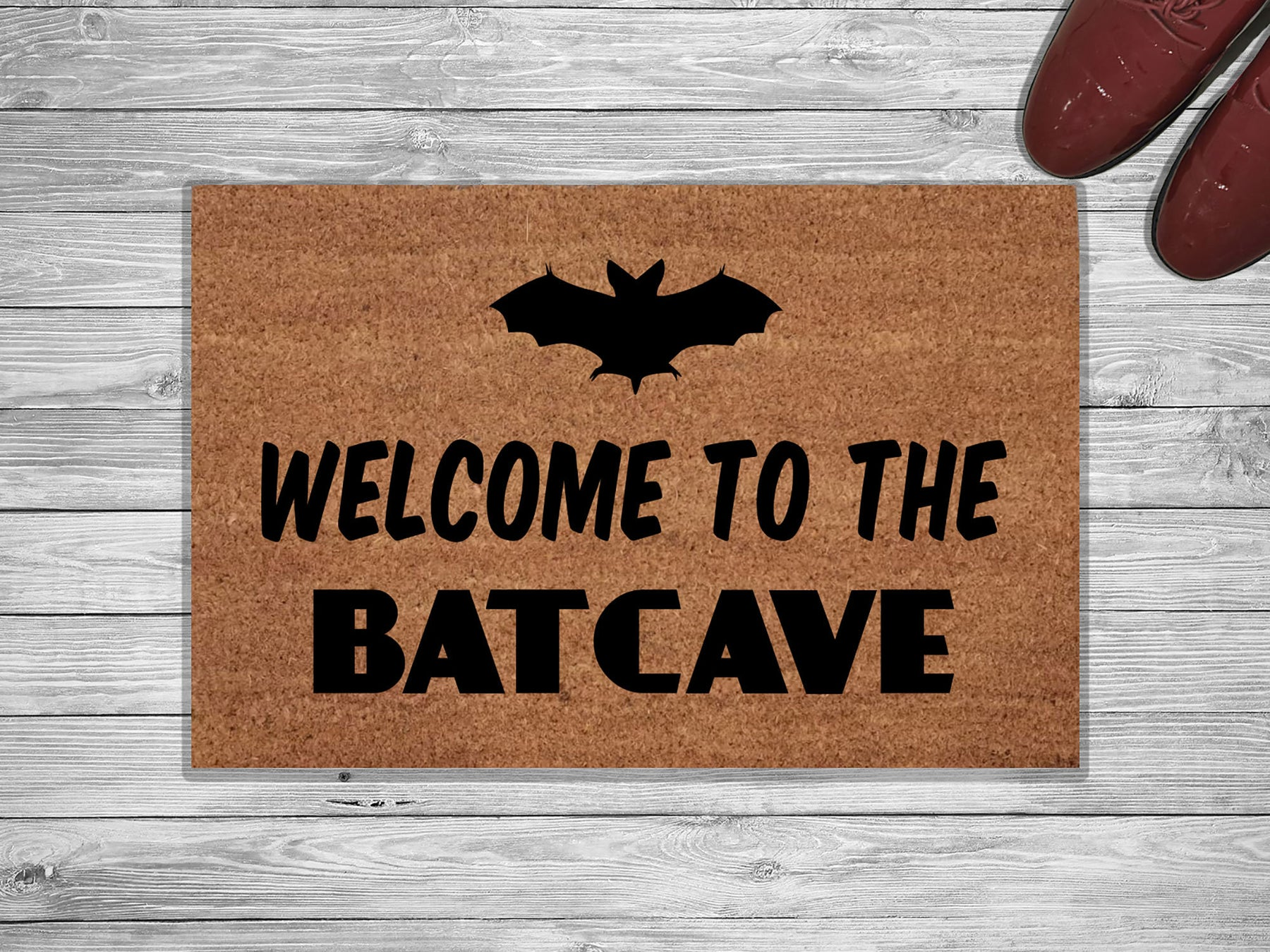 Welcome To The Batcave Customized Doormat
