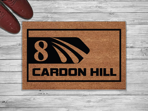 Cardoon Hill Personalized Address Doormat