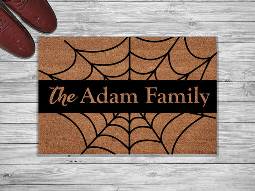 The Adam Family Personalized Name Doormat