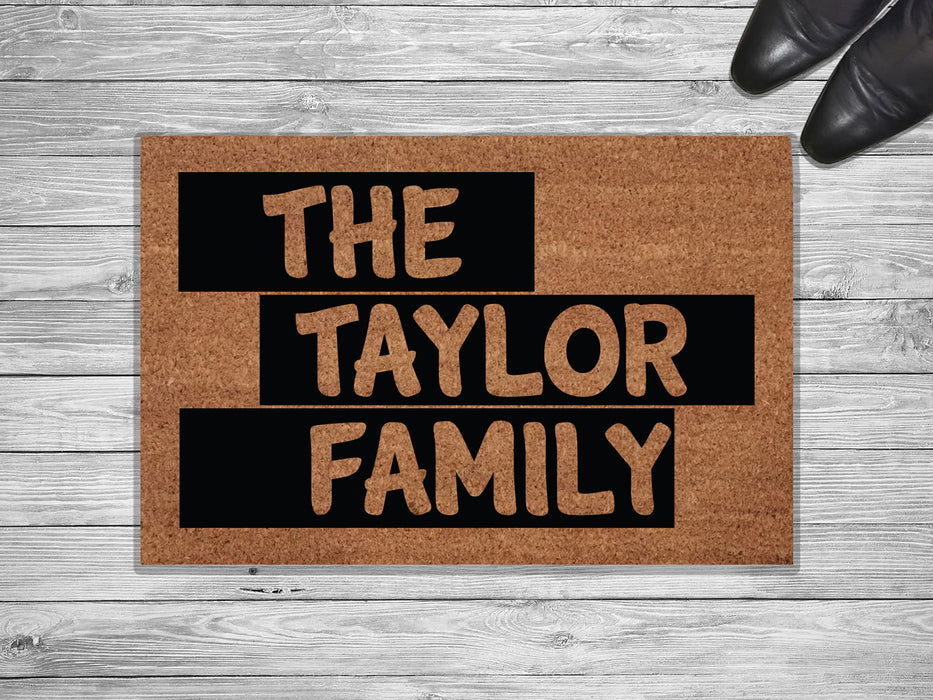 The Taylor Family Personalized Doormat