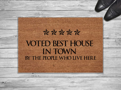 Best House In The Town Customized Doormat