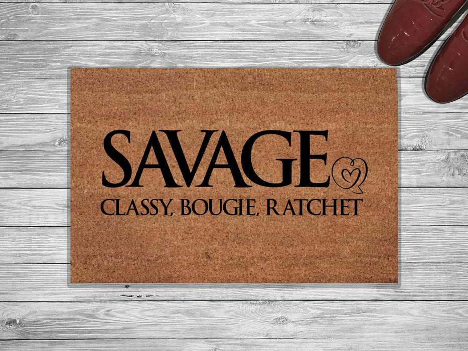 Start Living Fearlessly Customized Doormat