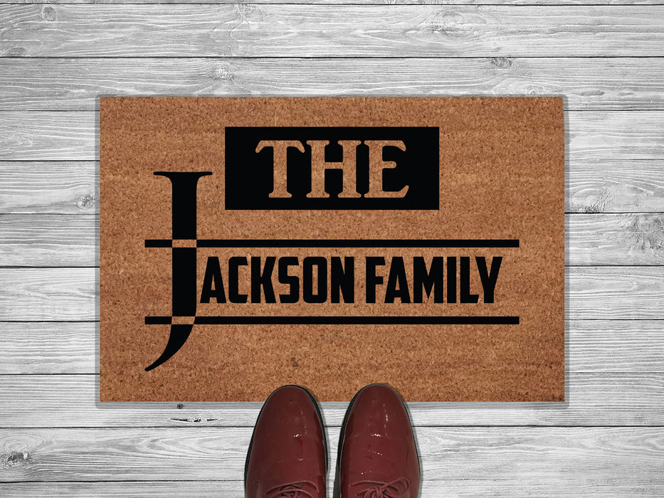 Slab Style Personalized Address Doormat