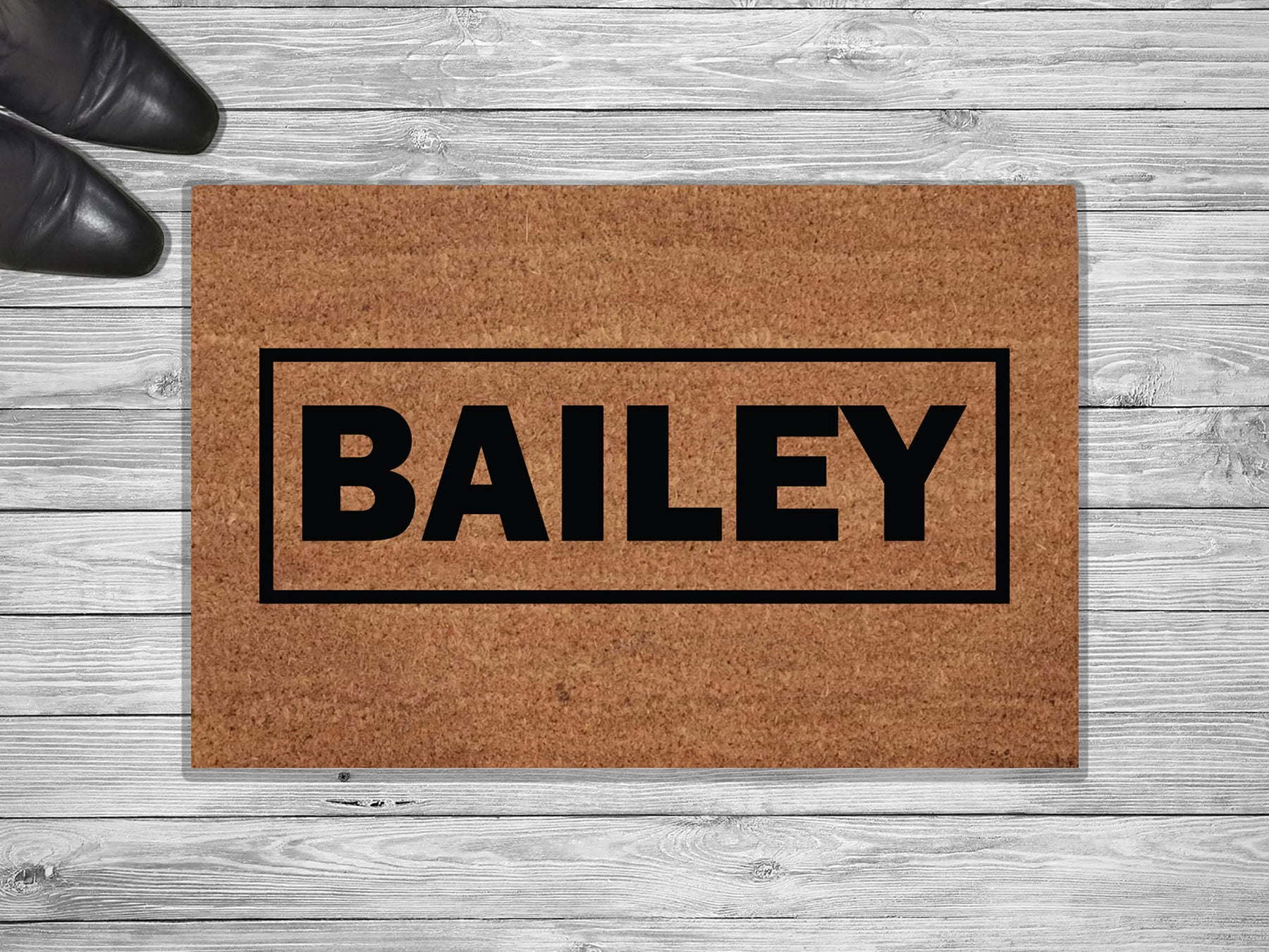 Bailey Design Personalized Doormat