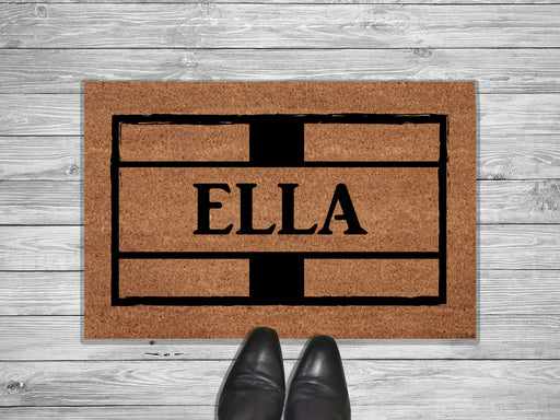 Brick Design Ella Personalized Doormat