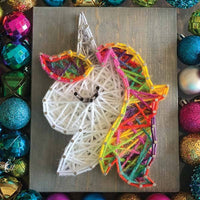 Unicorn (Rainbow) Mini String Art Kit - DIY