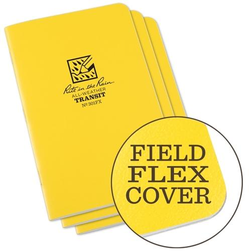 "Field Books - Rite In The Rain 301FX All-Weather Transit Stapled Notebooks, 4 5/8"" X 7"""
