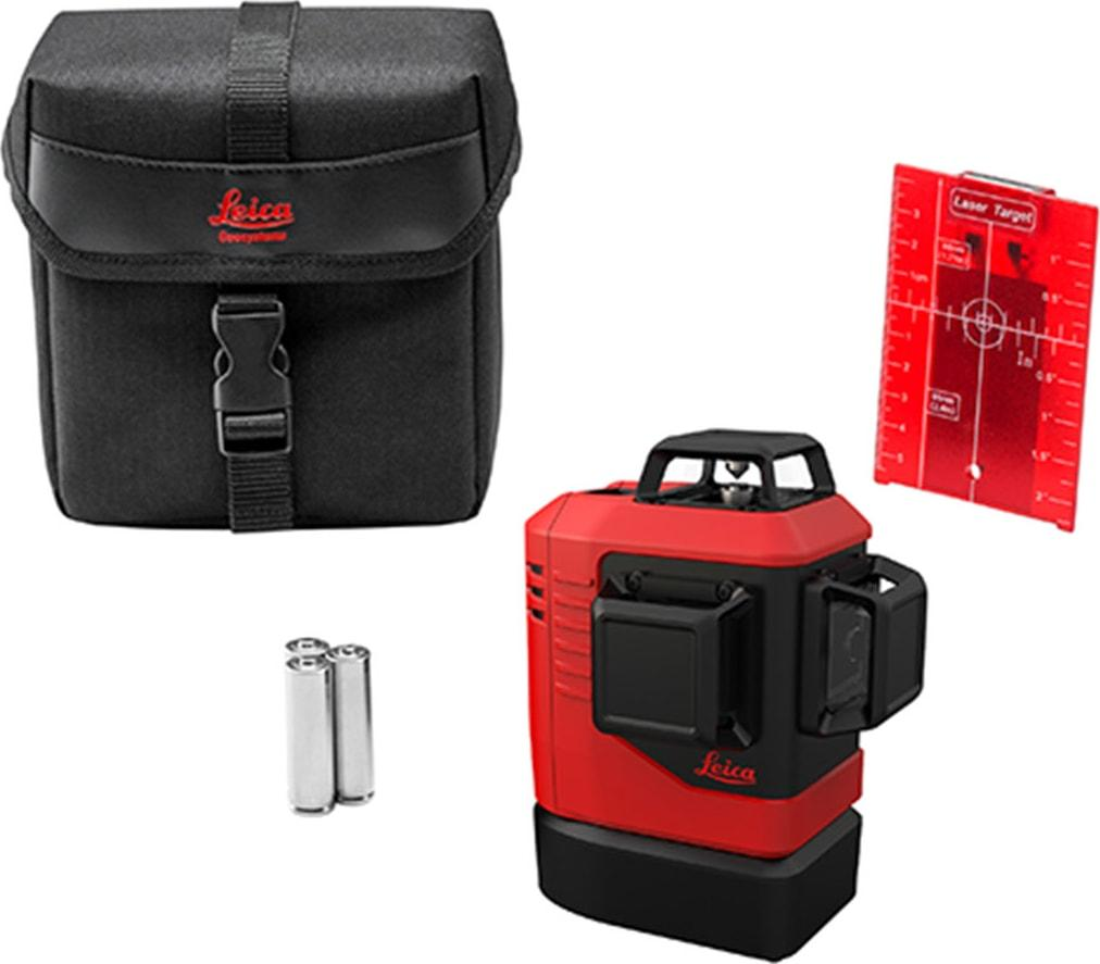 Measuring Tool - Leica Lino L6Rs-1 Self-Levelling 3x360° Laser, Red Beam, Alkaline