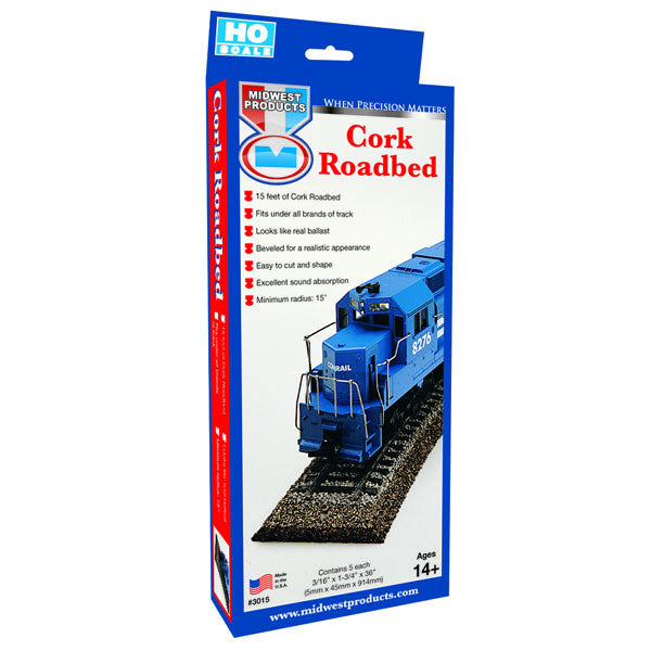 """HO"" Cork Roadbed 5 Pack-SKU 3015"
