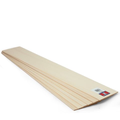1/8x4x24 Basswood Sheet - SKU 4404