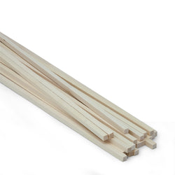 1/4 X 1/4 X 24 Basswood Strips-SKU 4066W