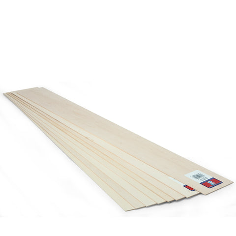 1/16 x 3 x 24 Basswood Sheet - SKU 4302