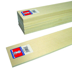 1/4x3x24 Basswood Sheet - SKU 4306