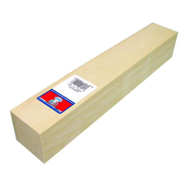 2 x 2 x 12 Basswood Block-SKU 4420