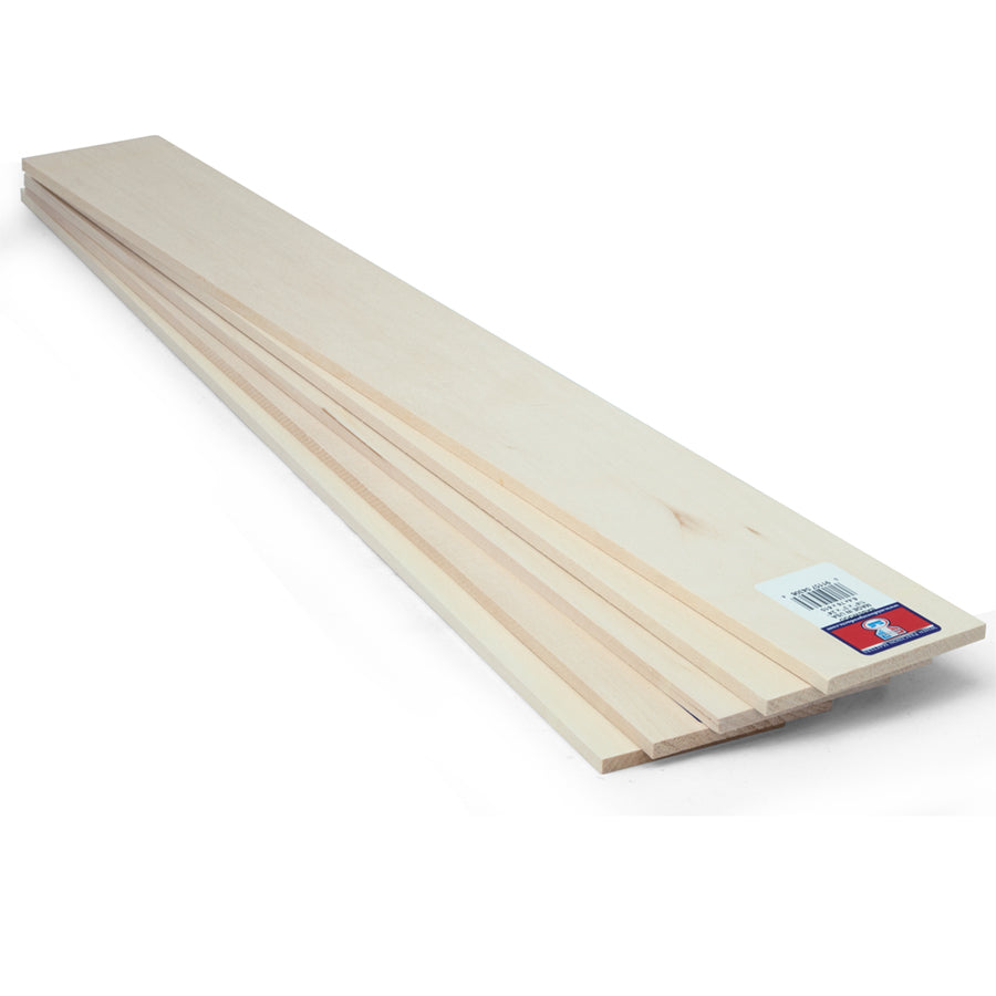1 4 X 3 X 24 Basswood Sheet Sku 4306 Midwest Products