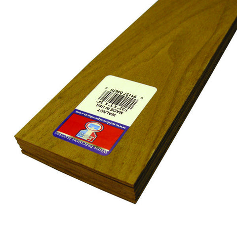 1/32 X 3 X 24 Walnut Sheets-SKU 4670W