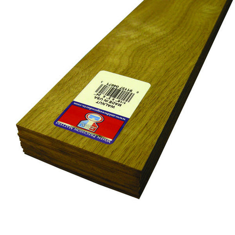 1/16 X 3 X 24 Walnut Wood-SKU 4671W